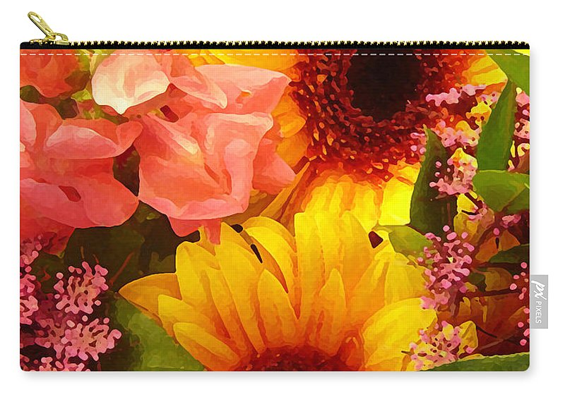 Roses Carry-all Pouch featuring the photograph Spring Bouquet 1 by Amy Vangsgard
