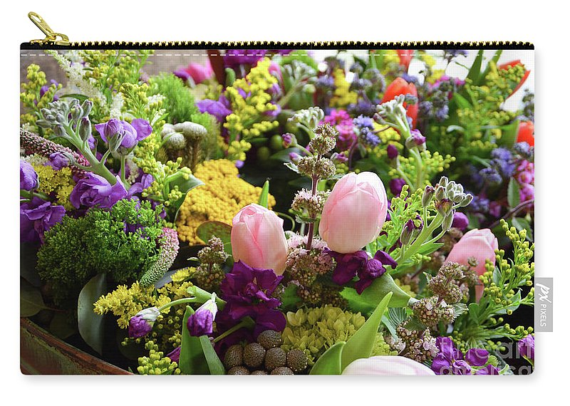 Flower Carry-all Pouch featuring the photograph Spring Bouquet 2 by Cheryl Williver