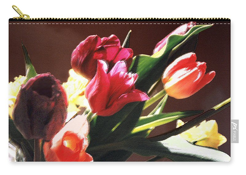 Floral Still Life Carry-all Pouch featuring the photograph Spring Bouquet by Steve Karol