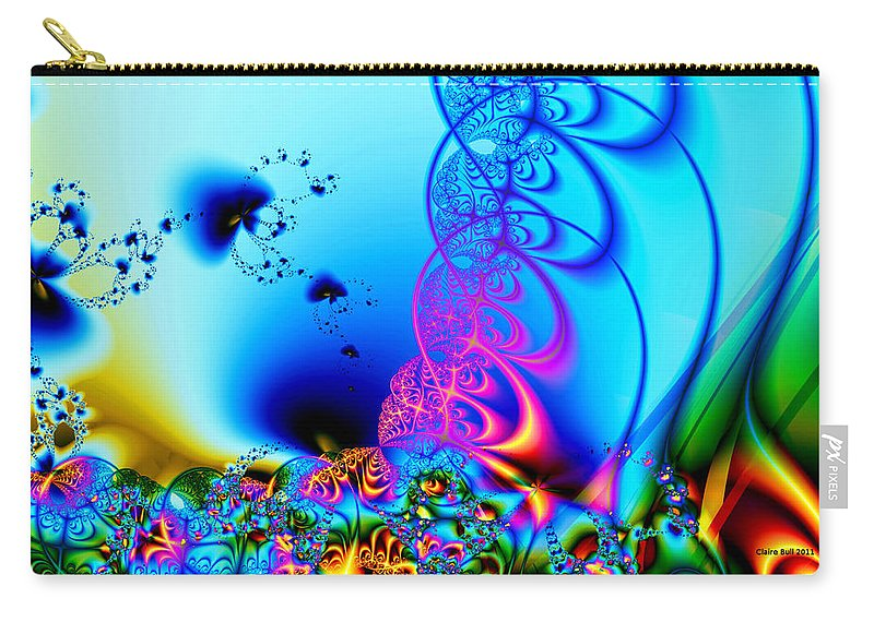 Fractal Carry-all Pouch featuring the digital art Spring Breezes by Claire Bull