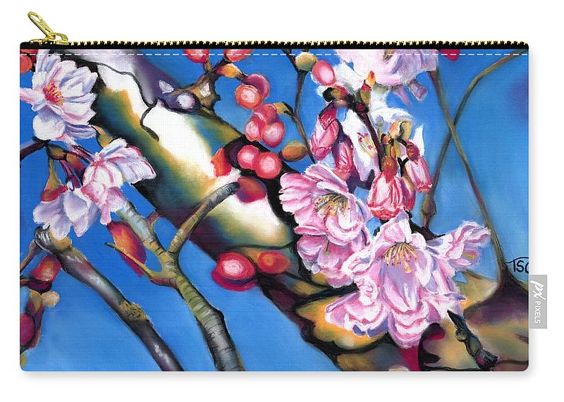 Blossoms Carry-all Pouch featuring the painting Spring Cherry Blossoms by Tammy Crawford