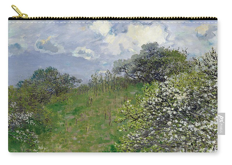Spring Carry-all Pouch featuring the painting Spring by Claude Monet