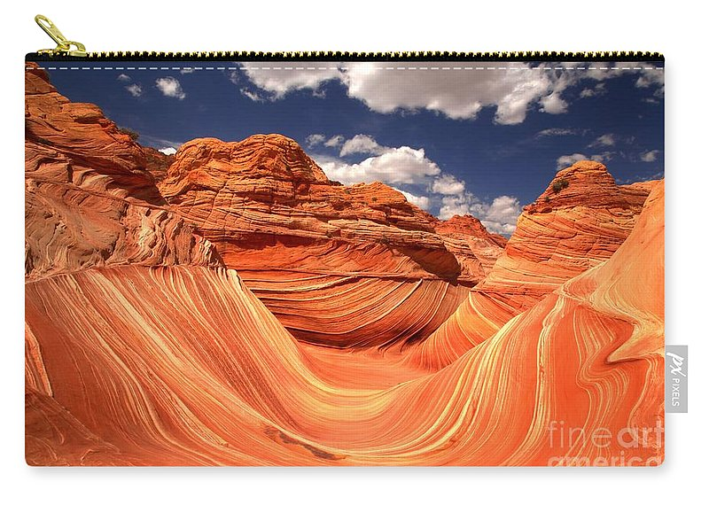 The Wave Carry-all Pouch featuring the photograph Spring Clouds Over The Wave by Adam Jewell