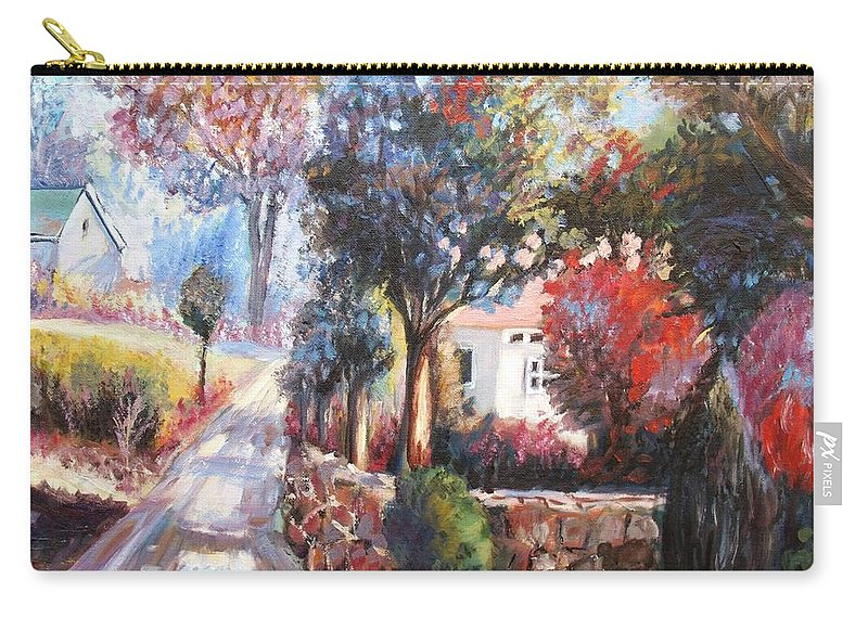Spring Carry-all Pouch featuring the painting Spring Colors by Elena Sokolova