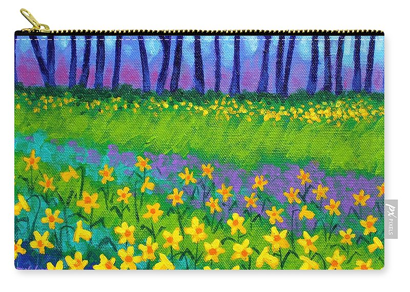 Daffodils Carry-all Pouch featuring the painting Spring Daffodils by John Nolan