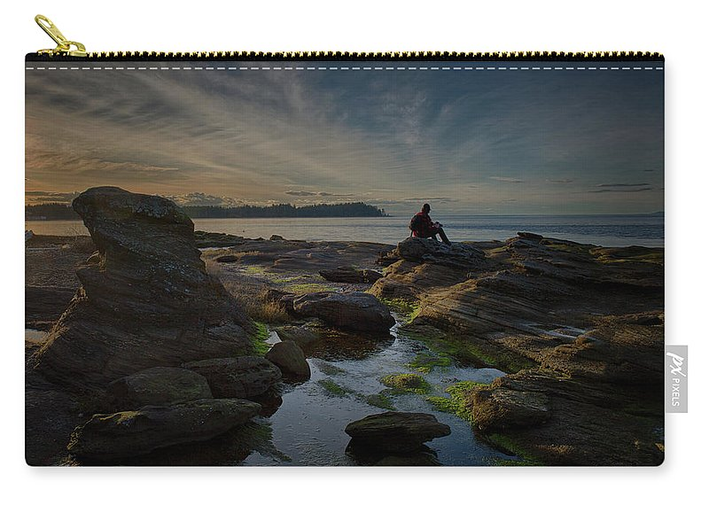 Rocks Carry-all Pouch featuring the photograph Spring Evening by Randy Hall