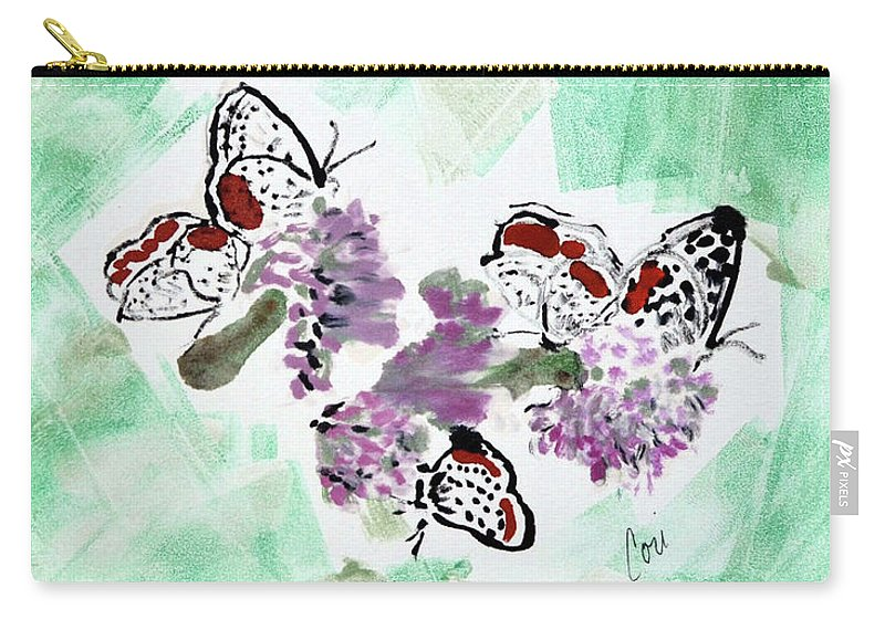 Spring Carry-all Pouch featuring the mixed media Spring Fever by Cori Solomon