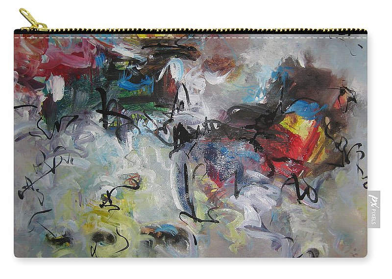 Painting Carry-all Pouch featuring the painting Spring Fever28 by Seon-Jeong Kim