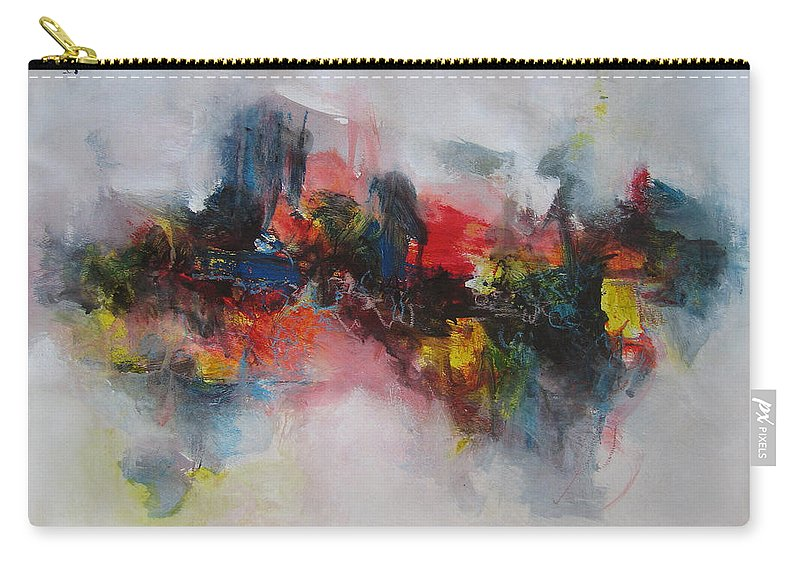 Painting Carry-all Pouch featuring the painting Spring Fever51 by Seon-Jeong Kim