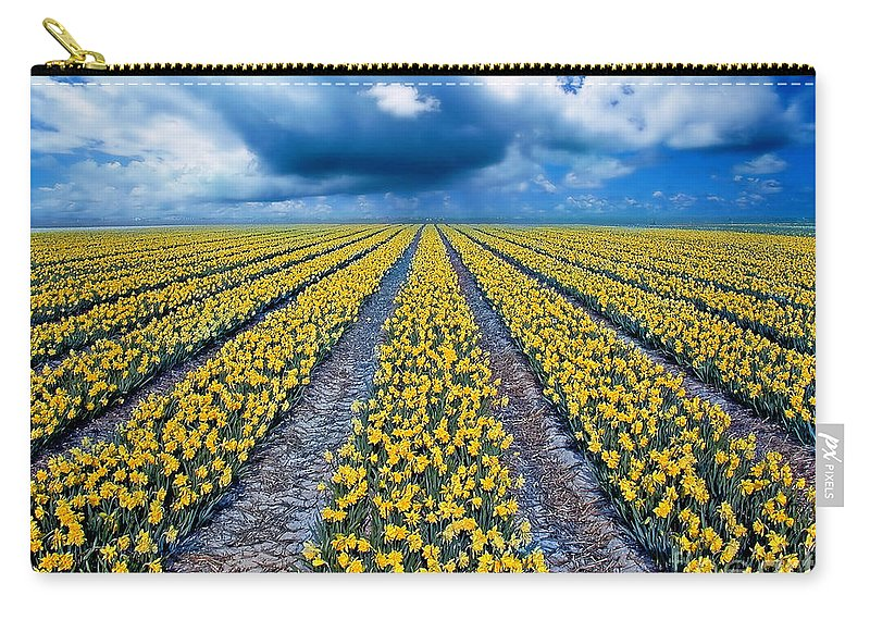 Flowers Carry-all Pouch featuring the photograph Spring Fields by Jacky Gerritsen
