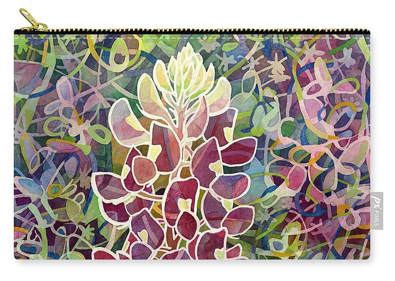 Bluebonnet Carry-all Pouch featuring the painting Spring Fling by Hailey E Herrera