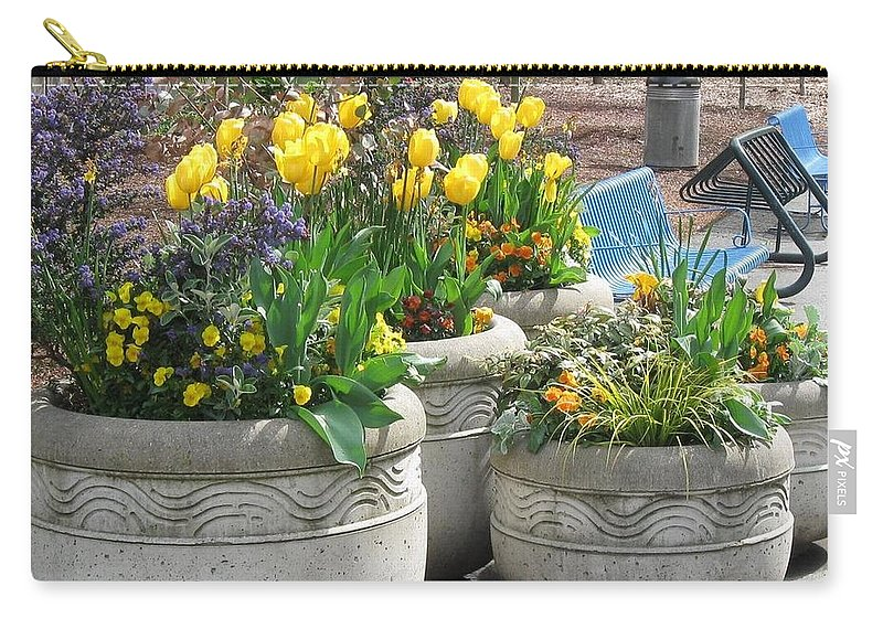 Flowers Carry-all Pouch featuring the photograph Spring Fling by Thomas Sexton