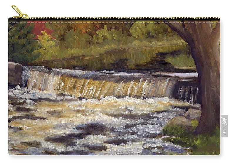 Water Carry-all Pouch featuring the painting Spring Flow by Sharon E Allen