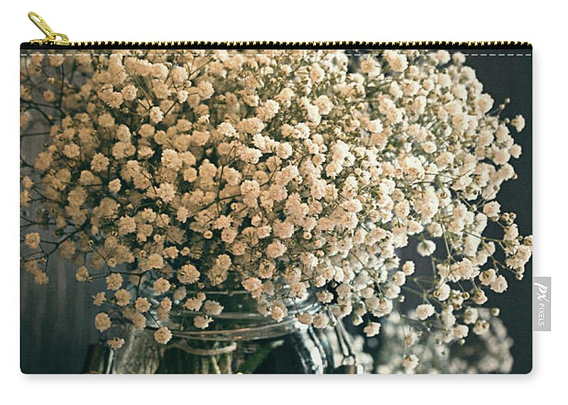 White Carry-all Pouch featuring the photograph Spring Flower Arrangement by Maria Angelica Maira