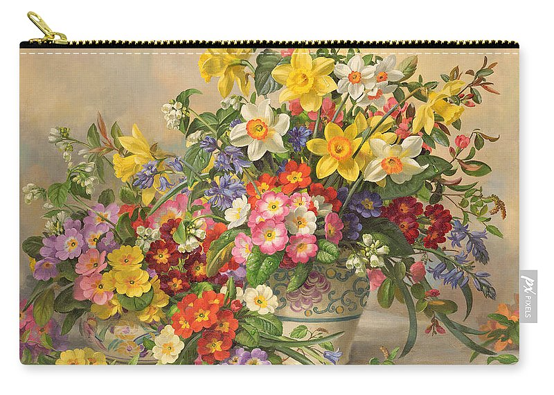 Spring Flowers And Poole Pottery Carry-all Pouch for Sale by Albert ...