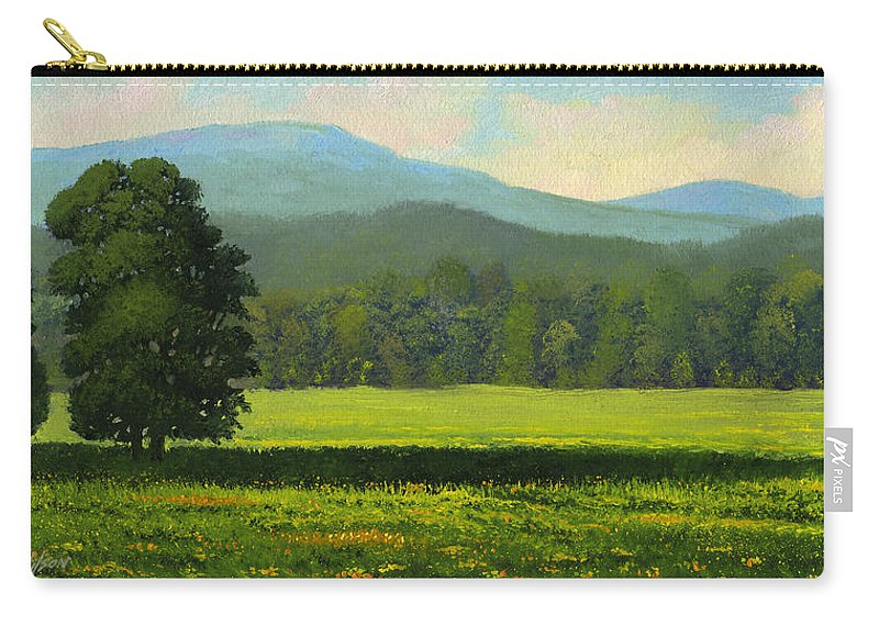 Landscape Carry-all Pouch featuring the painting Spring Flowers by Frank Wilson