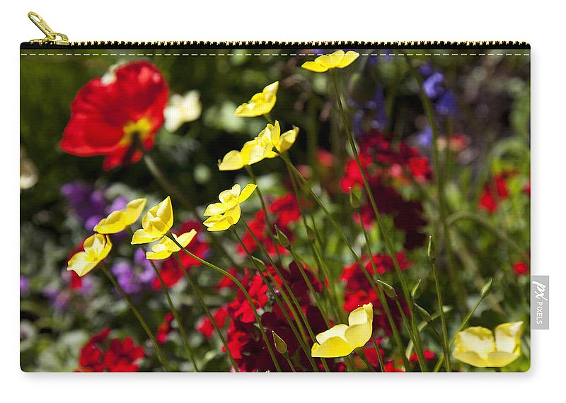 Flower Carry-all Pouch featuring the photograph Spring Flowers by Garry Gay