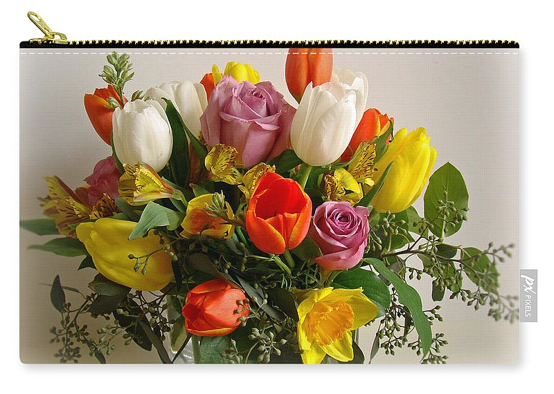 Flowers Carry-all Pouch featuring the photograph Spring Flowers by Sandy Keeton