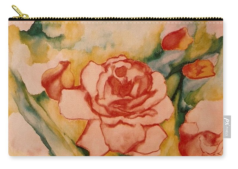 Blooms Artwork Carry-all Pouch featuring the painting Spring Garden by Jordana Sands