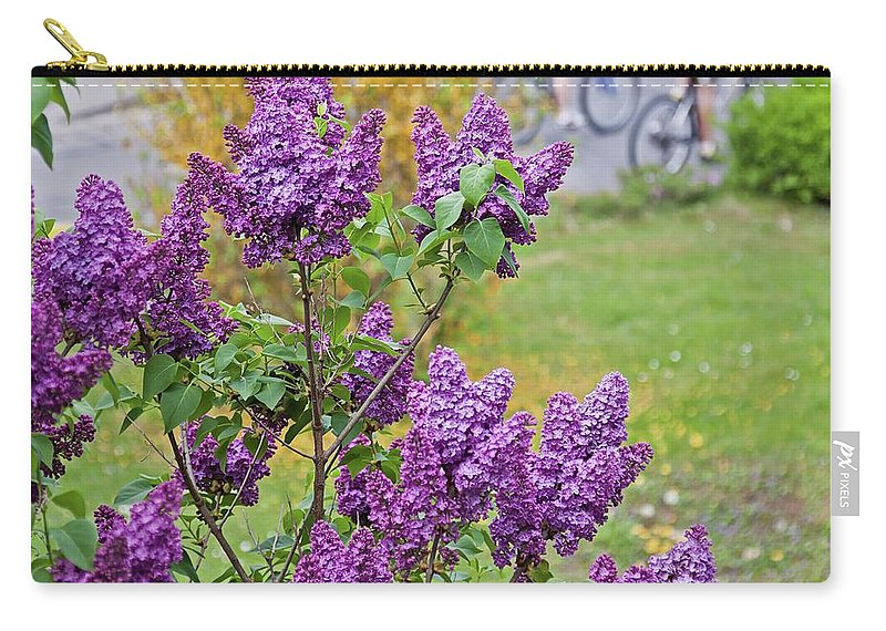 Lilac Carry-all Pouch featuring the photograph Spring Has Arrived by Tatiana Travelways