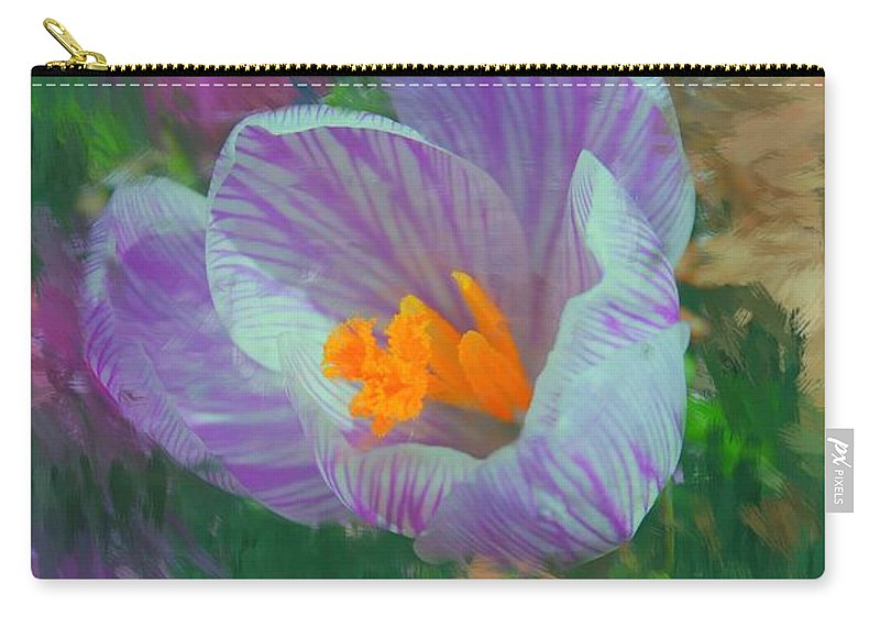 Digital Photography Carry-all Pouch featuring the digital art Spring Has Sprung by David Lane