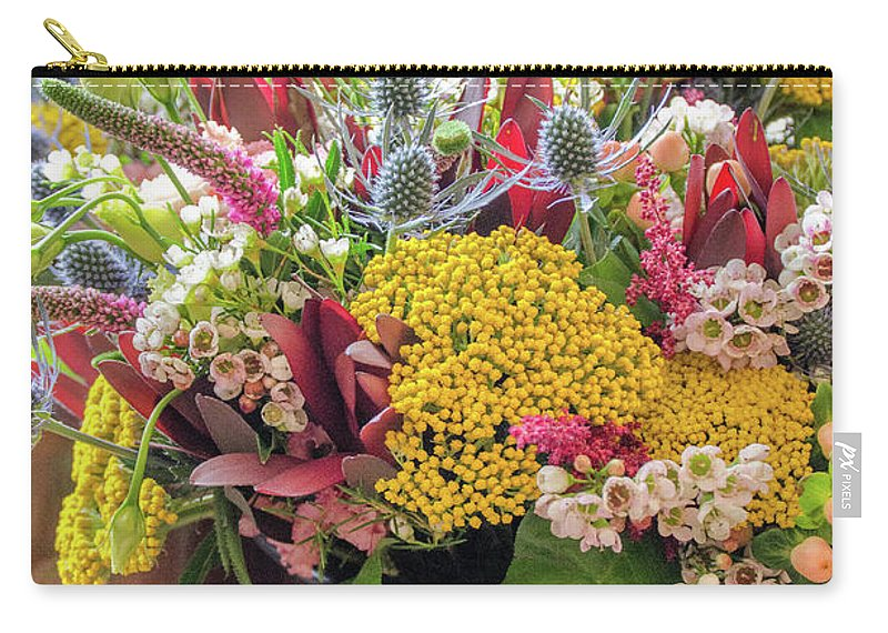 Flowers Carry-all Pouch featuring the photograph Spring In A Bucket by Cheryl Williver