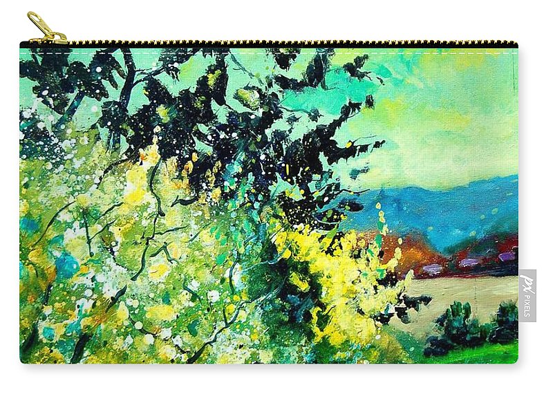 Spring Carry-all Pouch featuring the painting spring in Ciergnon by Pol Ledent
