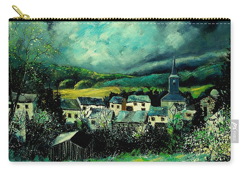 Tree Carry-all Pouch featuring the painting Spring In Daverdisse by Pol Ledent
