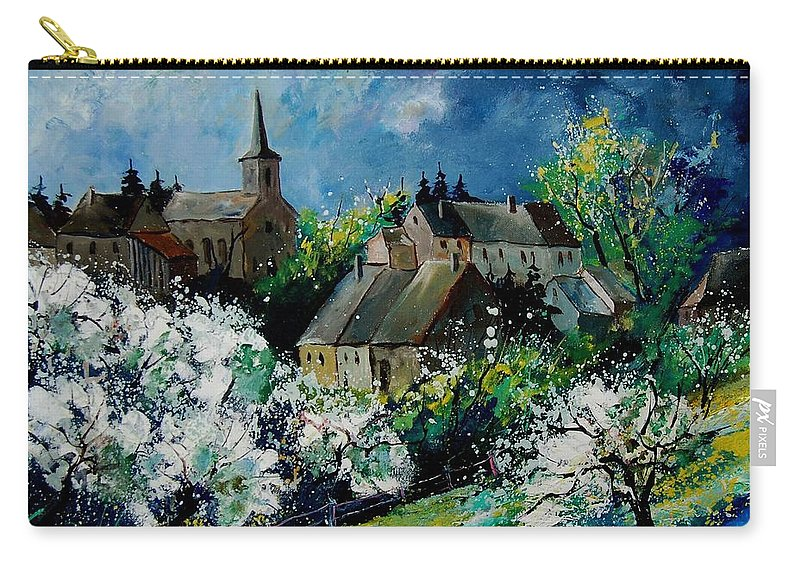 Spring Carry-all Pouch featuring the painting Spring In Fays Famenne by Pol Ledent