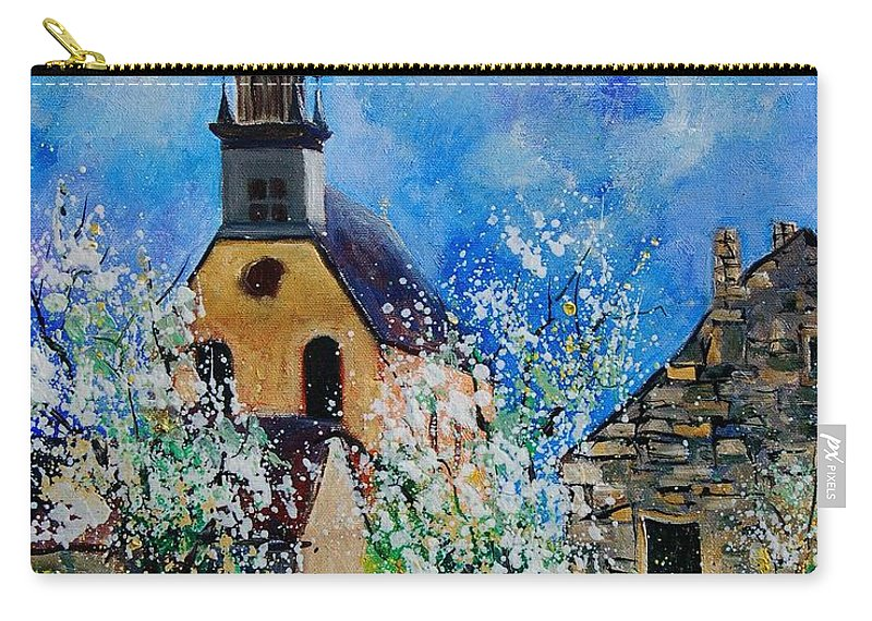 Spring Carry-all Pouch featuring the painting Spring In Foy Notre Dame Dinant by Pol Ledent