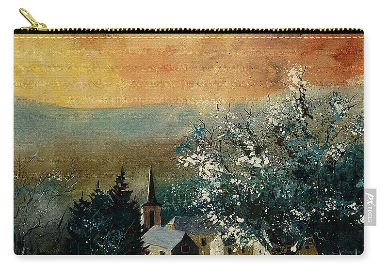 Spring Carry-all Pouch featuring the painting Spring In Gendon by Pol Ledent