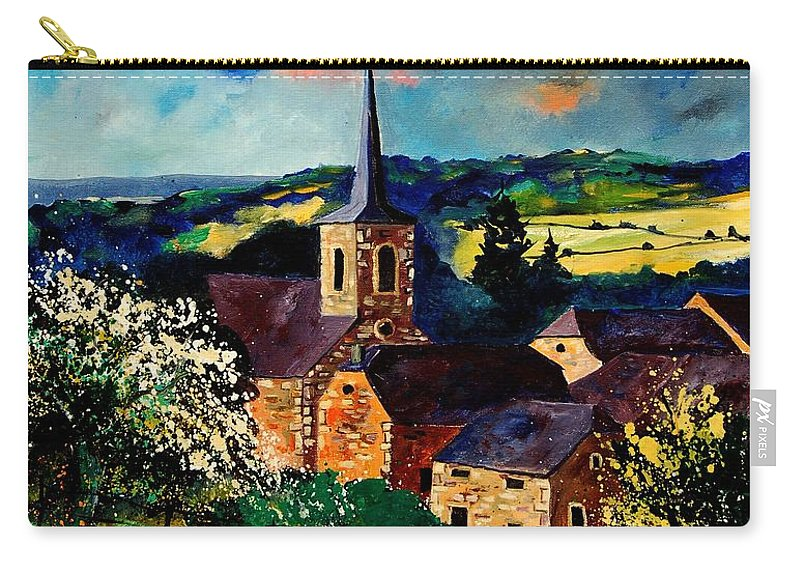 Spring Carry-all Pouch featuring the painting Spring In Gendron by Pol Ledent