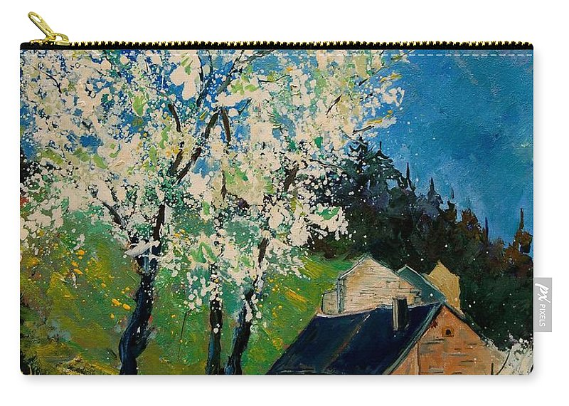 Spring Carry-all Pouch featuring the painting Spring In Hierges by Pol Ledent