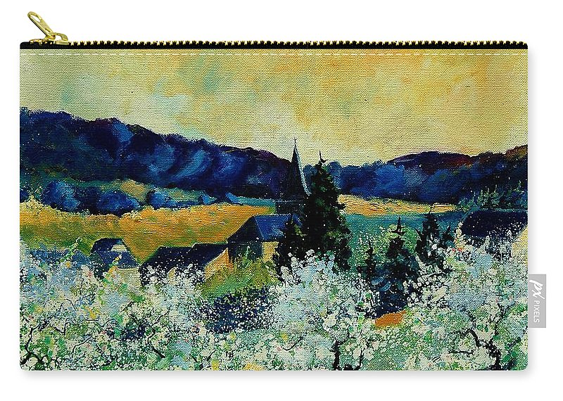 Spring Carry-all Pouch featuring the painting Spring In Monceau by Pol Ledent