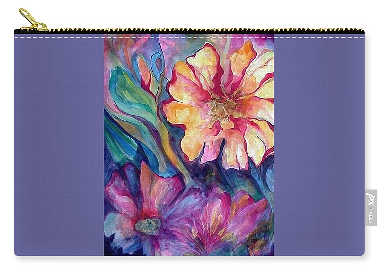 Spring Carry-all Pouch featuring the painting Spring In My heart by Carolyn LeGrand