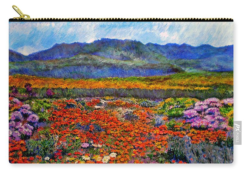 Spring Carry-all Pouch featuring the painting Spring In Namaqualand by Michael Durst