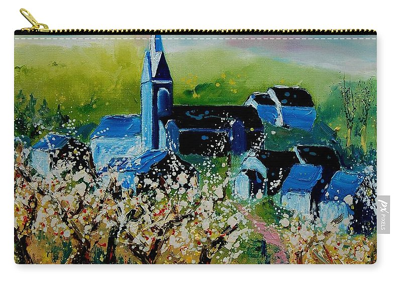 Spring Carry-all Pouch featuring the painting Spring In Redu by Pol Ledent
