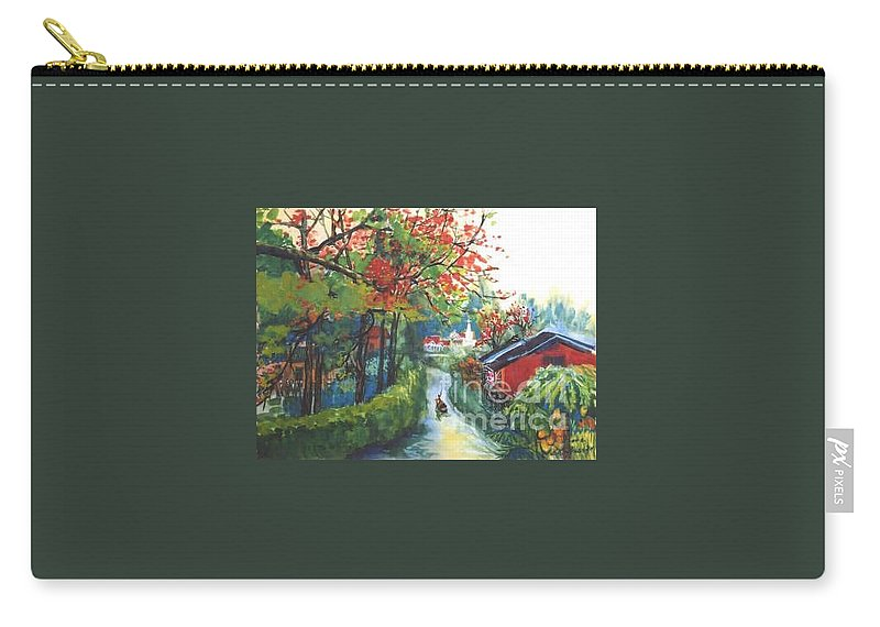 Spring Carry-all Pouch featuring the painting Spring In Southern China by Guanyu Shi