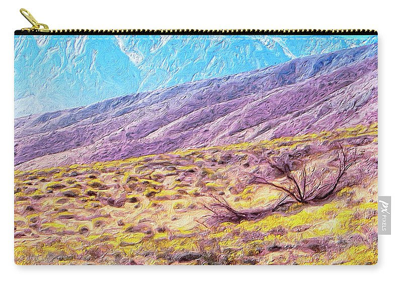 Desert Carry-all Pouch featuring the painting Spring In Whitewater Canyon by Dominic Piperata