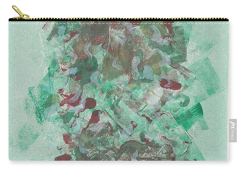 Monoprint Carry-all Pouch featuring the mixed media Spring Interlude by Cori Solomon