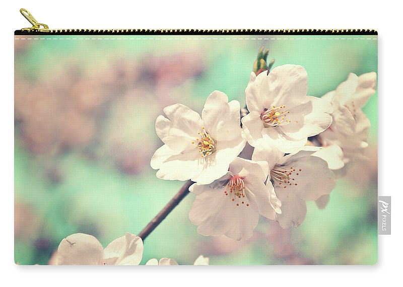 Cherry Blossom Carry-all Pouch featuring the photograph Spring Is Coming by Delphimages Photo Creations