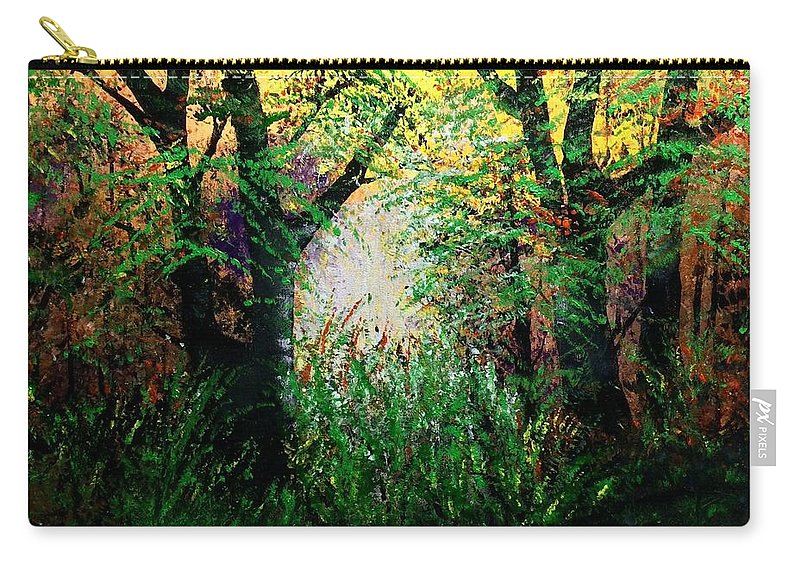 Landscape Carry-all Pouch featuring the painting Spring Is Near by Richard Fey