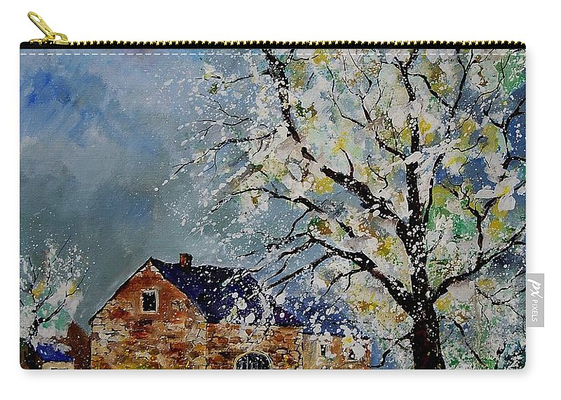 Spring Carry-all Pouch featuring the painting Spring Landscape by Pol Ledent