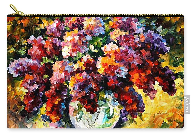 Afremov Carry-all Pouch featuring the painting Spring Lilac by Leonid Afremov