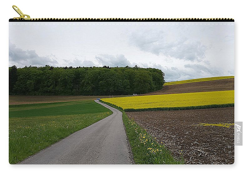Landscape Carry-all Pouch featuring the photograph Spring Lines by Felicia Tica