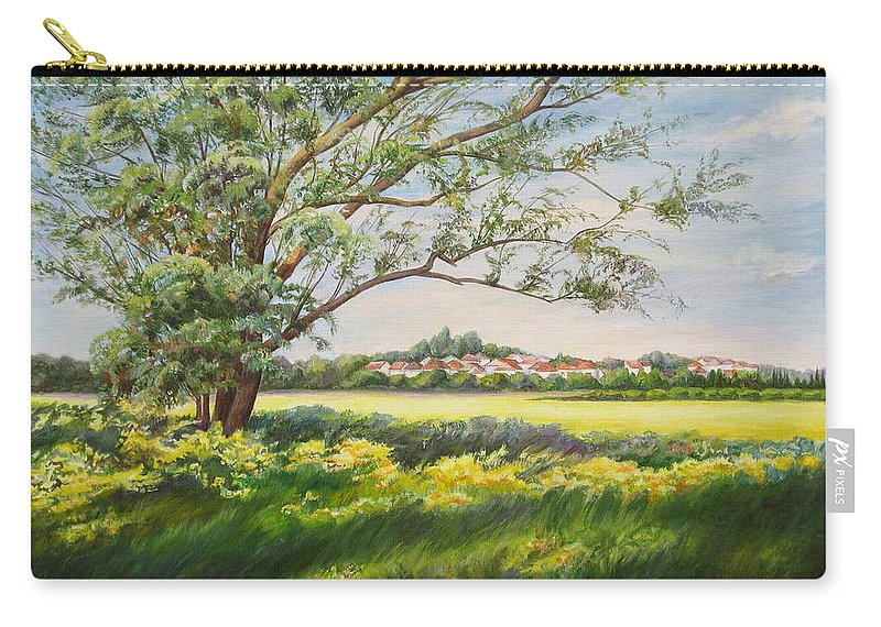 Landscape Carry-all Pouch featuring the painting Spring by Maya Bukhina