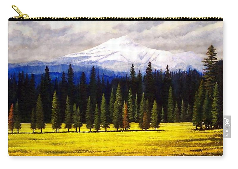 Landscape Carry-all Pouch featuring the painting Spring Meadow Mount Brokeoff by Frank Wilson