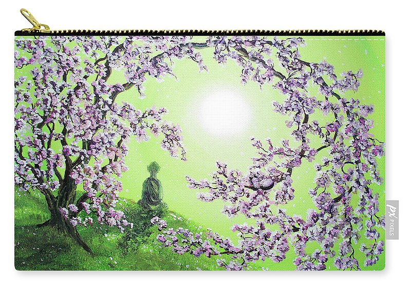 Painting Carry-all Pouch featuring the painting Spring Morning Meditation by Laura Iverson
