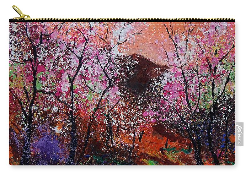 Spring Carry-all Pouch featuring the painting Spring Near My Home by Pol Ledent