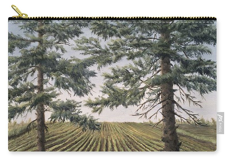 Landscape Carry-all Pouch featuring the painting Spring Planting by J O Huppler
